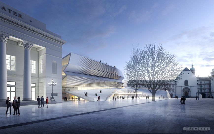 house of music exterior rendering